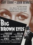 Große braune Augen