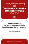 Anforderungen an die rechtswissenschaftliche Ausbildung an den Universitäten Zwischenveranstaltung vom 11.11.2019