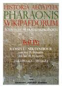 Historia Aegyptia Pharaonis Wikipaedorum, Teil IV