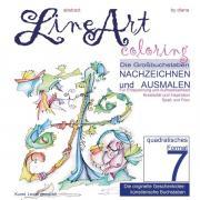 Abstract Line Art Coloring / Line Art Coloring - Die Großbuchstaben Nachzeichnen und Ausmalen - Band 07 - quadratisches Format auf 170 gr Papier matt